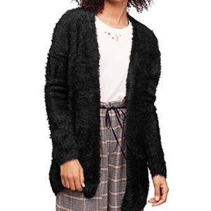Free People Faux Fur Fuzzy Cardigan L NEW